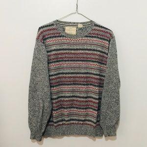 Vintage Grandpa Sweater With Tribal Type Print